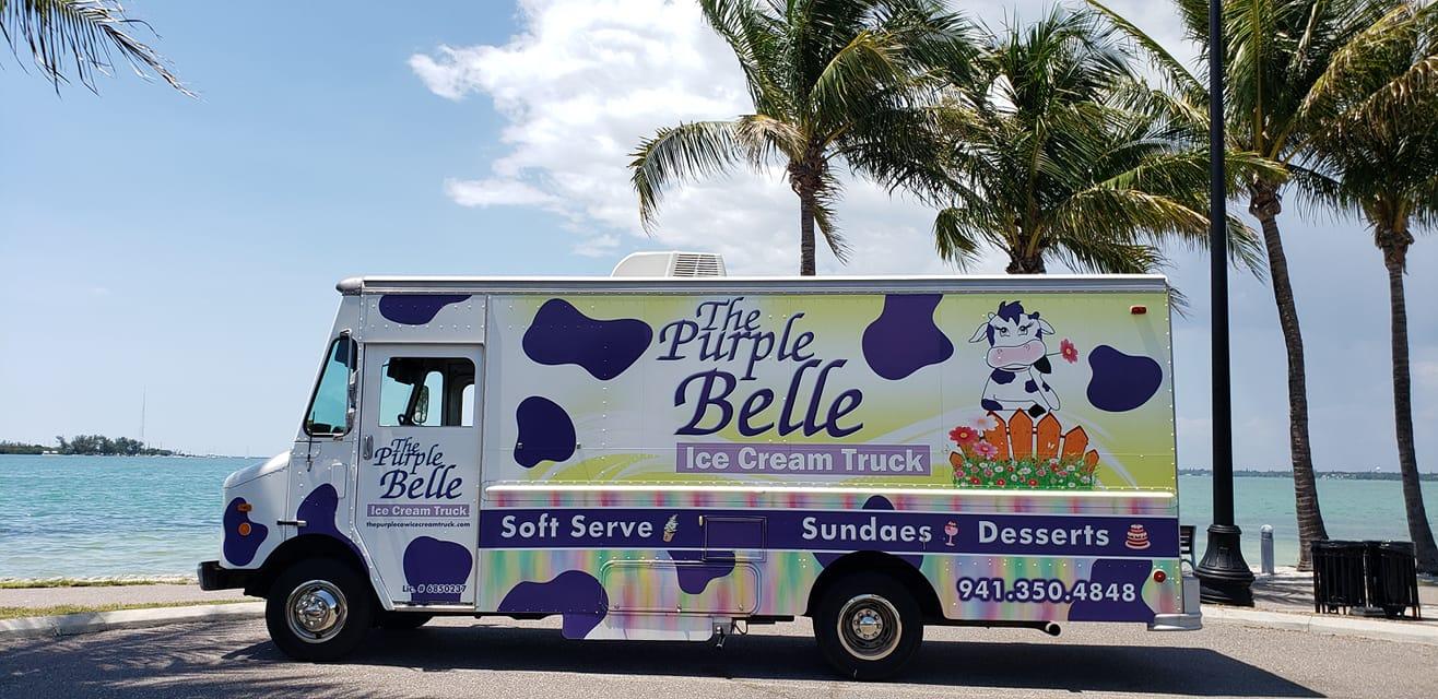 The Purple Belle Ice Cream Truck Food Truck