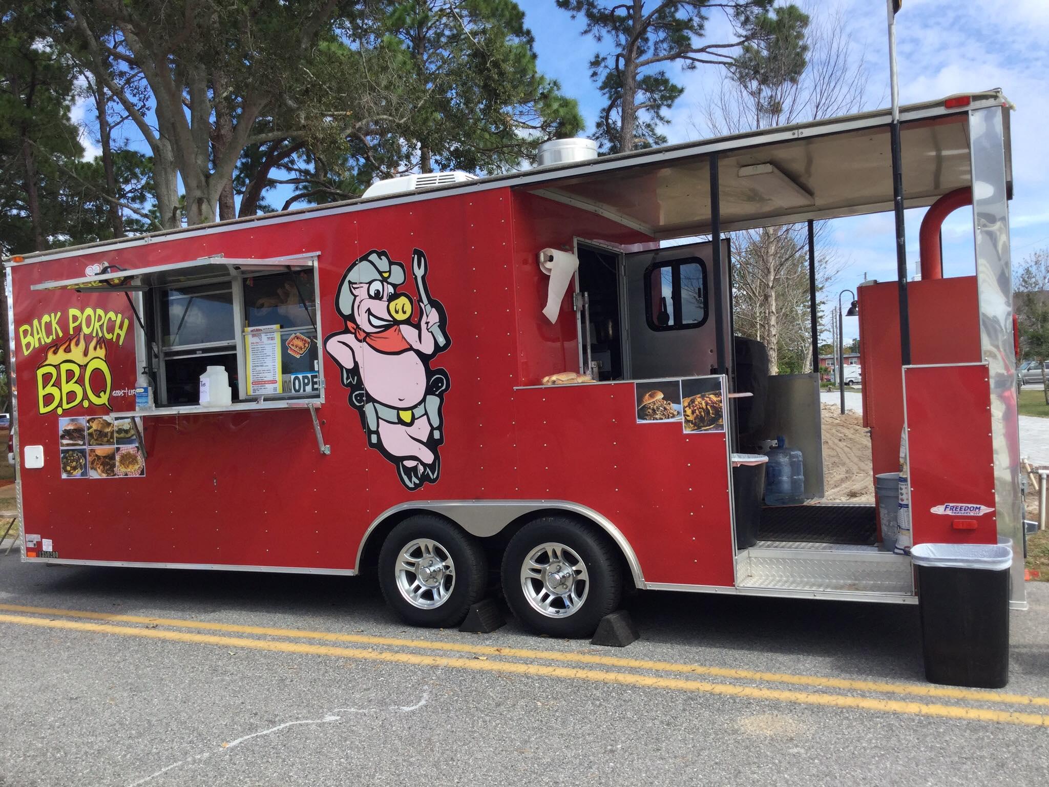 Back Porch BBQ Concession Trailer Food Truck