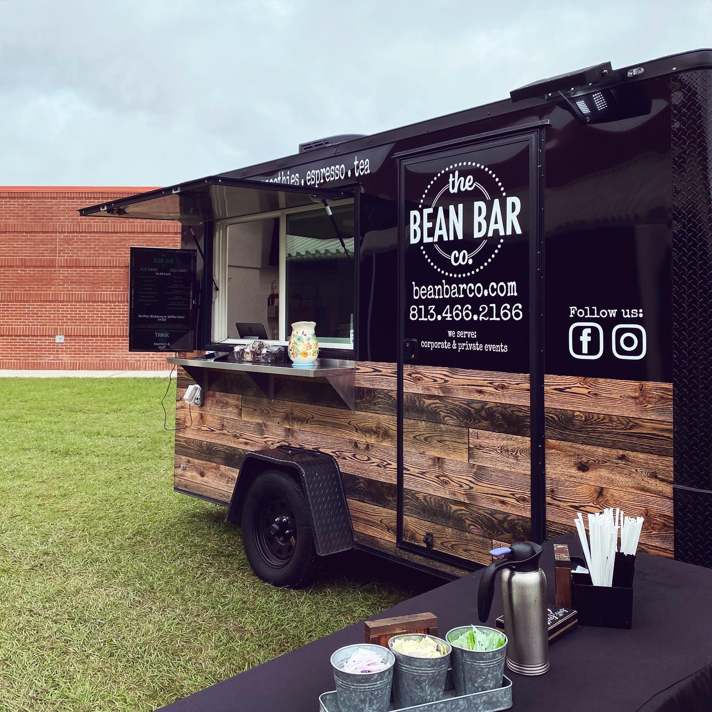 The Bean Bar Company truck